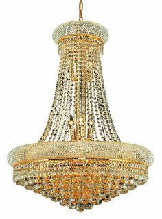 Primo 14 Light Crystal (Clear) Chandelier in Gold Finish 1800D28G/RC