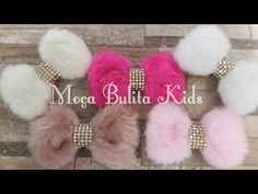 Laço de pelúcia - YouTube Diy Hair Bows, Diy Bow, Bow Hair Clips, Sparkle Crafts, Shabby Chic Crafts, Baby Girl Dolls, Barrettes, Yarn Ball, Hair Beads