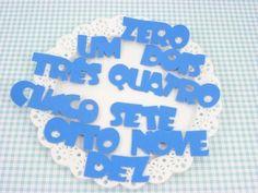 Escrita zero a dez para cartaz de rotina