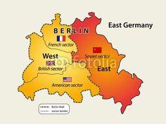 Map of Berlin wall (1961 - 1989)