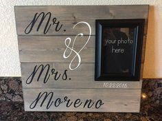 Items similar to Mr & Mrs wedding photo sign on Etsy You And Me Sign, Mr And Mrs Wedding, Mr Mrs, Wedding Photos, Signs, Unique Jewelry, Handmade Gifts, Vintage, Etsy