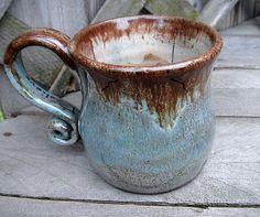 love this handle: Believe Dragonfly coffee mug Wheel thrown handmade pottery mug Reiki energy Rustic Earthy Dragonfly Tea Cup Believe Mug green brown