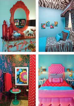 Vibrant colors makes the room happy