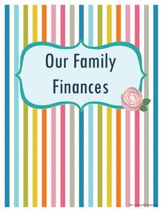 Family Finances budget binder cover free printable