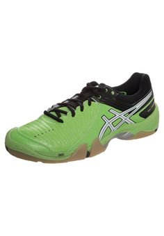 reputable site a4d37 ec574 ASICS GEL-DOMAIN 3 - Handballschuh - neon green white black - Zalando
