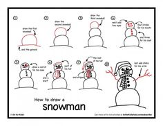 How To Draw A Snowman (video and printable) - Art for Kids Hub