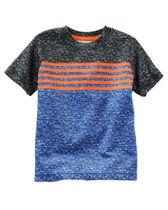 Kid Boy Colorblock Striped Active Tee from OshKosh B'gosh. Shop clothing & accessories from a trusted name in kids, toddlers, and baby clothes.