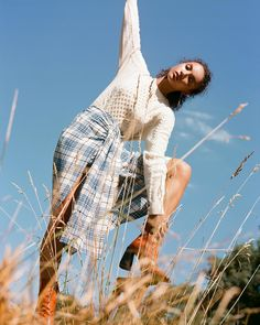 Pastures new: the best checks, tweeds, knits and boots on the high street Tweed Outfit, The Sunday Times, Street Style, Knitting, Boots, Outdoor Decor, Outfits, Crotch Boots, Suits