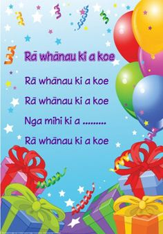 Ra Whanau Ki a koe - try singing happy birthday in te reo Maori this Maori… Birthday Songs, Singing Happy Birthday, Maori Songs, Waitangi Day, Happy Birthday Posters, Learning Stories, Autism Learning, Maori Designs, Maori Art
