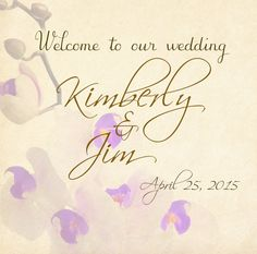 20 Soft Lavender & Gold Sticky Labels for by 4WeddingWelcomeBags