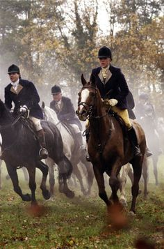 I so want to ride in a fox hunt. (Not kill one, tho.) Did you know that in England, only farmers and a few specific people may own guns?!
