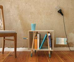 Bücherregal Dip Dye // Bookshelf diy dye by BPistorius via DaWanda.com