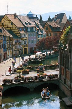 Quaint and charming Colmar ~ France looks like something right out of a snow globe