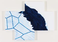 "Mary Heilmann, ""Renny's Right Geometry of a Wave"" (2011). Oil on wood panel,31.5 x 39.75 inches"