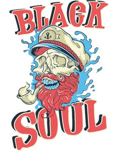 Black Soul Artsy Fartsy, Typography, Comic Books, Logos, Design, Pirates, Blue, Black, Letterpress