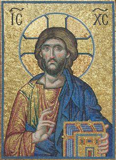 Byzantine Icons, Byzantine Art, Images Of Christ, Orthodox Icons, Kirchen, Religious Art, Mosaic Art, Art And Architecture, Jesus Christ