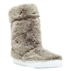 11 Furry Boots to Get You Excited for Winter Furry Boots, Faux Fur Boots, Ugg Boots, 2015 Trends, Uggs, Slippers, Beige, Shoes, Fashion