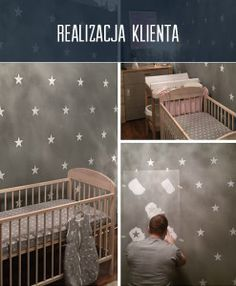 malowanie szablonem malarskim gwiazdki efekty
