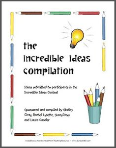 Terrific free ebook of ideas to use in your classroom!