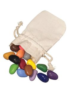 Crayons made to look like stones - What a cute idea for my sister to do for her daughter's colors.
