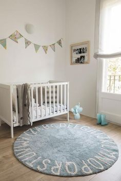 Beautiful and Washable Nursery Rug available at Parade and Company