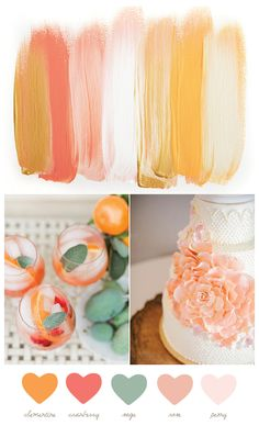 Clementine and sage color palette @Mandy Dewey Seasons Bridal