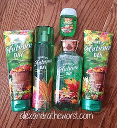 Bath and Body Works Fall Traditions 2015 Perfect Autumn Day Review........AMAZING!!!