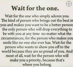 The one...