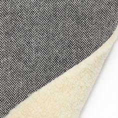 Tissu chevrons doublé fourrure - Lainage, Jacquard et Matelassé - MODE Mondial Tissus
