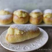 Un clásico a la salida del colegio, los conejos con crema pastelera son un pastel tradicional chileno