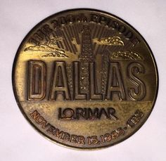 Dallas The 200th Episode Commemorative Medallion Bronze Coin Lorimar 1985 CBS TV