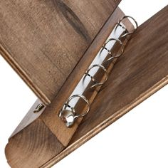 ... Dark presentation folder wooden A4 ring folder of beech wood ...