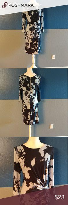 "I°N°C International Concepts Dress Beautiful Dark Blue/Sky Blue Dress 3/4 Sleeve  38"" Bust 37"" Length  Polyester Spandex  Bundle and Save INC International Concepts Dresses"
