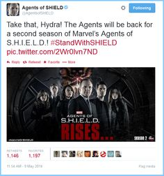 Take that, Hydra!  Clark Gregg, Agents of SHIELD