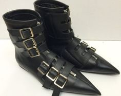 Original Pikes-Cowboy Buckles/Laces Boots by TheGothicShoeCo