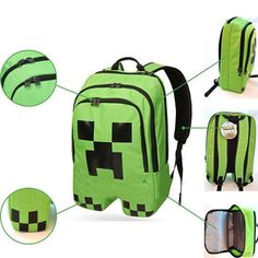 Barato Versão brinquedos de jogo Minecraft Coolie medo de pessoas em torno Ender verde sacos de escola das crianças mochila, Compro Qualidade Mochilas diretamente de fornecedores da China: Minecraft game Ender people drawstring pouch Storage bag schoolbag Creeper Green backpack A plurality of color selection