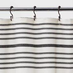Target Shower Curtains, Modern Shower Curtains, Striped Shower Curtains, Black Curtains, Shower Curtain Rods, Bathroom Shower Curtains, Black White Shower Curtain, All You Need Is, Farmhouse Shower Curtain