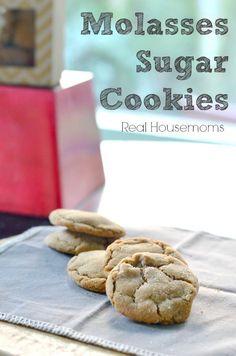 Molasses Sugar Cookies_Real Housemoms Cookie Cake Pie, Cookie Brownie Bars, Cookie Desserts, Cake Cookies, Fun Desserts, Sugar Cookies, Cookies Et Biscuits, Cookie Recipes, Delicious Desserts