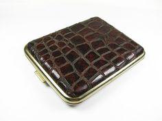 Vintage Cigarette Case Faux Reptile Leather / by MyChouChou