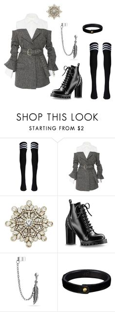 """RED VELVET - Bad Boy - YERI inspiration 1"" by bhgrace ❤ liked on Polyvore featuring Monse, Heidi Daus and Bling Jewelry"