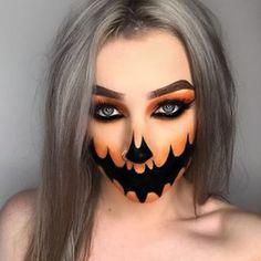 OFRA Cosmetics NikkieTutorials glasierter Donut-Textmarker - New Ideas Halloween Makeup Clown, Halloween Inspo, Halloween Eyes, Halloween Looks, Halloween Makeup Tutorials, Pumpkin Face Paint, Show Makeup, Pumpkin Costume, Creative Makeup