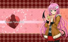 Anime Girl Happy Valentine HD Wallpaper #5327 Wallpaper
