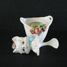 Котенок кухонный гарнитур Jam Jar Прикрепленный ложка соли соответствия / Pepper Lefton от pastwareslane на Руби-Лейн
