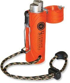 At REI Outlet: Ultimate Survival Technologies Trekker Stormproof Lighter - Be prepared.