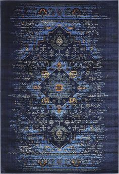 Navy Blue 7' x 10' Renaissance Rug | Area Rugs | eSaleRugs
