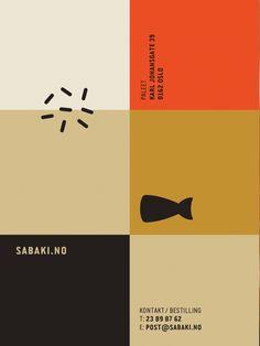 Identity for japanese restaurant Sabaki, by Metric Design
