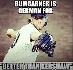 """Bumgarner is German for """"Better than Kershaw"""" Mlb Giants, Giants Baseball, Baseball Players, Baseball Memes, Dodgers Fan, Dodgers Meme, Madison Bumgarner, Better Baseball, Sports Figures"""