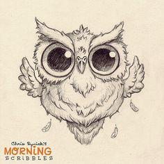 Hoot!!! #morningscribbles #countdowntohalloween | by CHRIS RYNIAK