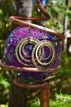$9.00 Brass 3 layered circle dangle Earrings, Bohemian style Trending Fashion Jewelry