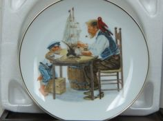 NORMAN ROCKWELL Collector Plate For A Good Boy Porcelain Now On Sale | Vintageartjewelry - Kitchen & Serving on ArtFire